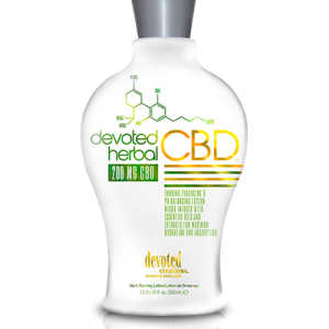Devoted Herbal CBD Tanning Lotion
